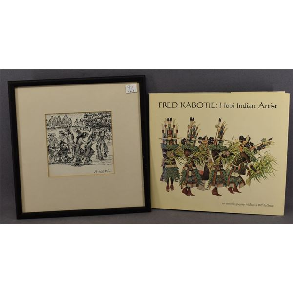 HOPI INDIAN PEN AND INK (FRED KABOTIE)