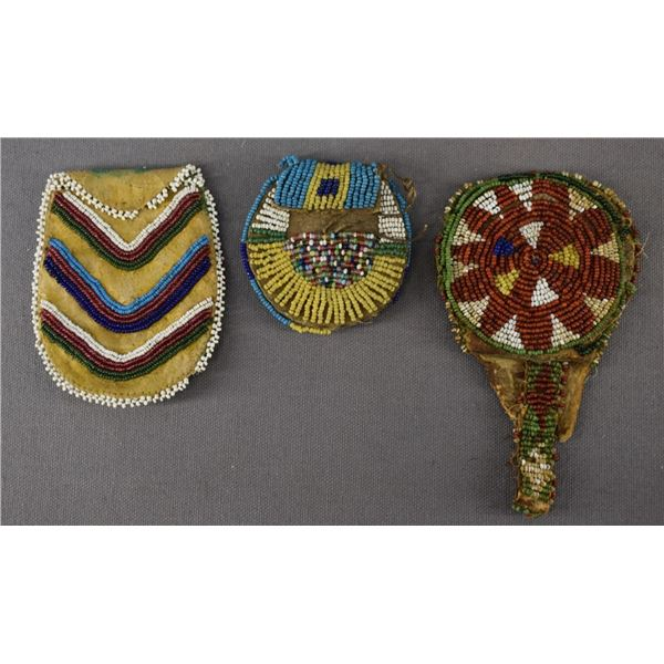 PLAINS INDIAN BEADED POUCHES