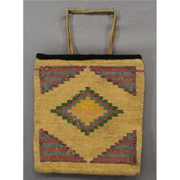 NEZ PERCE INDIAN CORN HUSK BAG