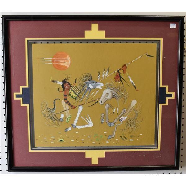 CHEYENNE / ARAPAHO/ SIOUX  INDIAN PAINTING (HARVEY PRATT)