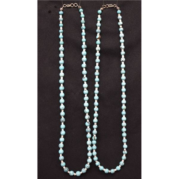 TURQUOISE BEAD NECKLACES