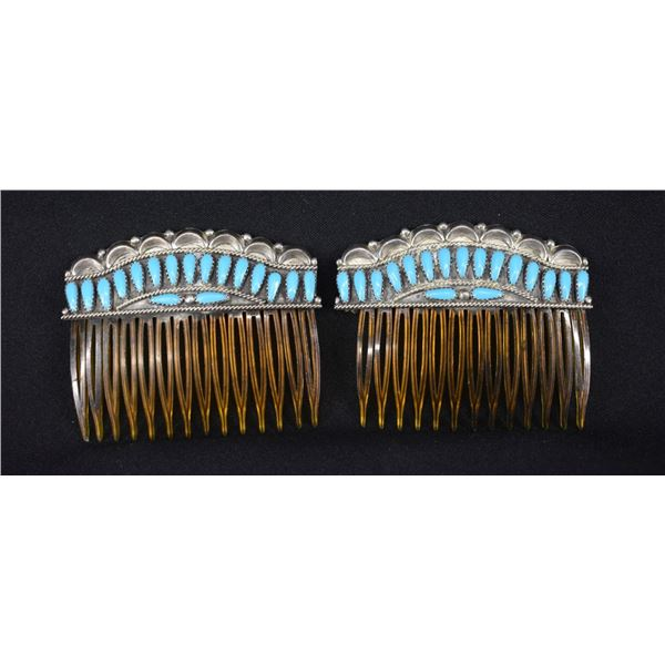 NAVAJO INDIAN HAIR BARRETTES
