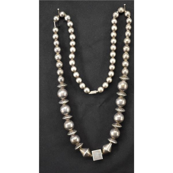 MEXICAN SILVER BEAD NECKLACE