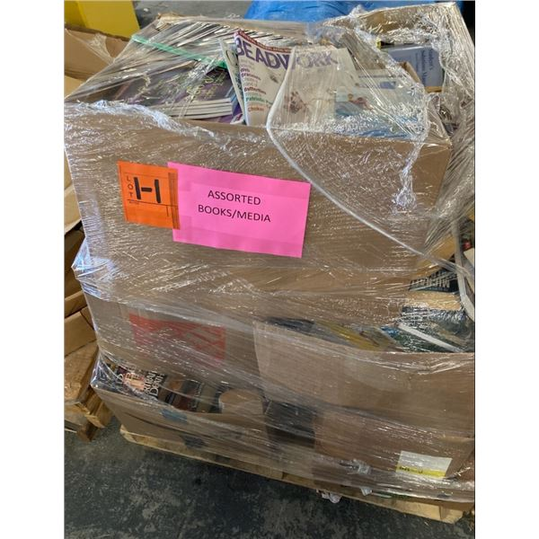 Contents of Pallet: Assorted Books & Media