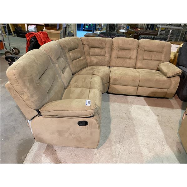 DOUBLE RECLINING SECTIONAL SOFA SET
