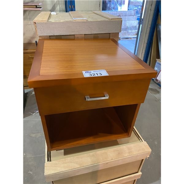 """1 NEW OUT OF PACKAGING & 1 NEW IN PACKAGING SINGLE DRAWER NIGHT TABLES 21 X 22 X 22"""""""