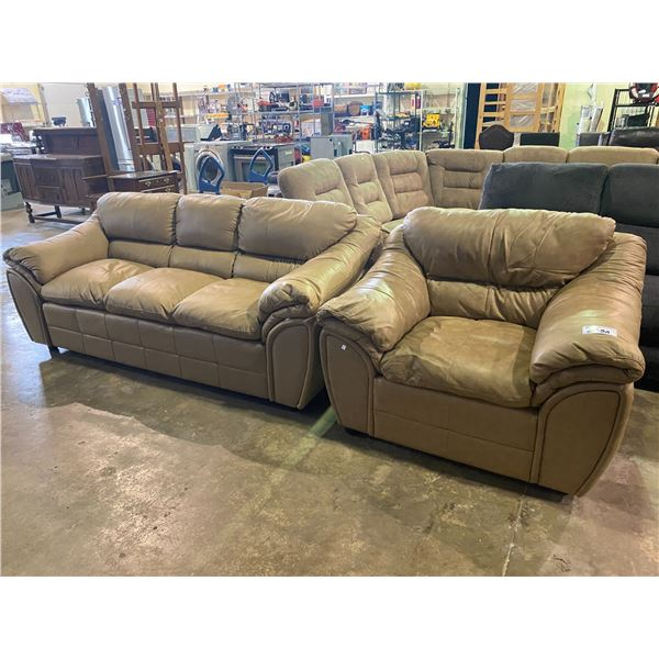 2PC LEATHER SOFA SET