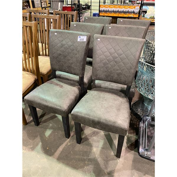 6 NEW WITH TAGS ASHLEY FURNITURE CHAIRS