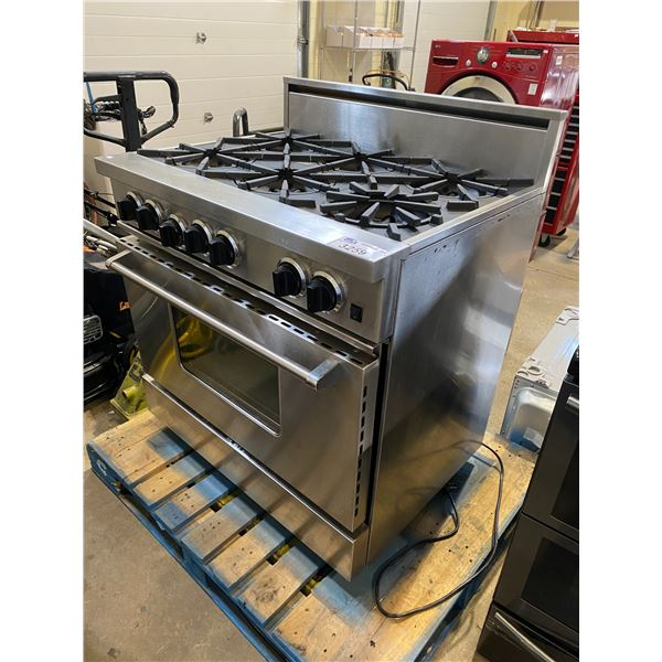 BLUESTAR 6 BURNER GAS STOVE WITH CONVECTION GAS OVEN 36""
