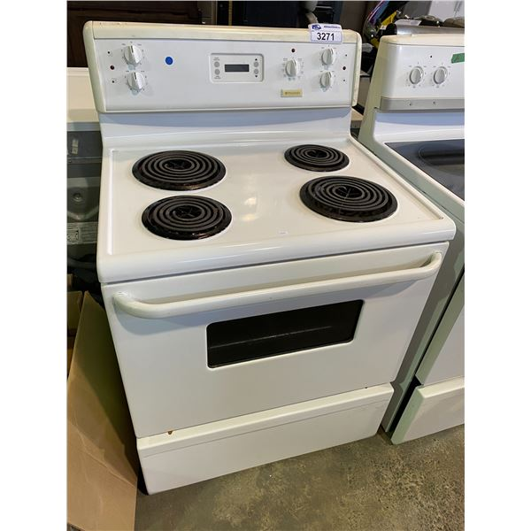 FRIGIDAIRE COIL TOP STOVE WITH CONVENTIONAL OVEN