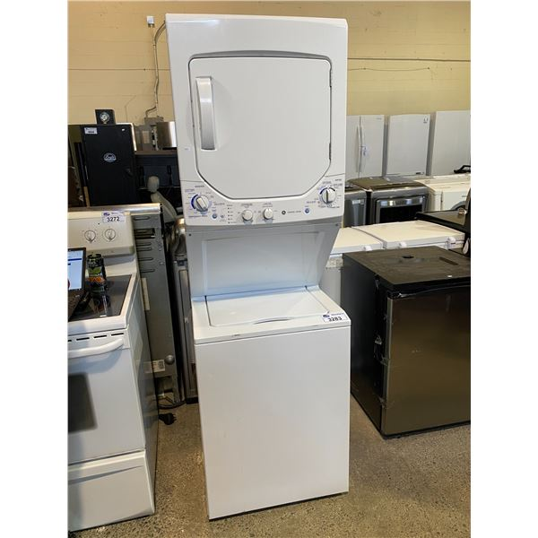 GE STACKING WASHER + DRYER MODEL GUAP240EM4WW