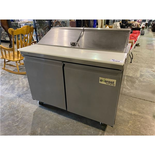 EVEREST COMMERCIAL STAINLESS STEEL REFRIGERATED SANDWICH MAKING STATION NEEDS NEW PLUG