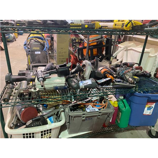 ASSORTED POWER TOOLS, HAMMER, & MORE