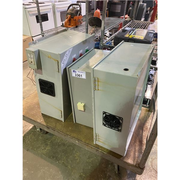 3 REMOTE TERMINAL UNIT WITH LOCAL CONTROL STATION UNITS (ROLLING CART NOT INCLUDED)