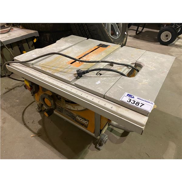 """RIGID ROLLING 15AMP 10"""" COMPACT PORTABLE TABLE SAW MODEL R4516"""