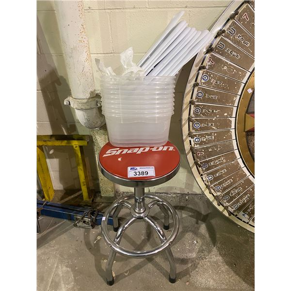 SNAP-ON STOOL WITH BINS