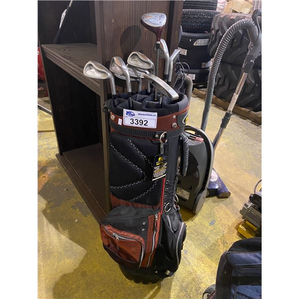 GOLDEN BEAR GOLF SET 9 PCS IN RED GOLF BAG