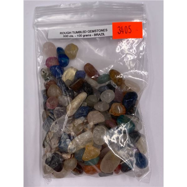 ROUGH TUMBLED GEMSTONES 500CT - 100G, BRAZIL