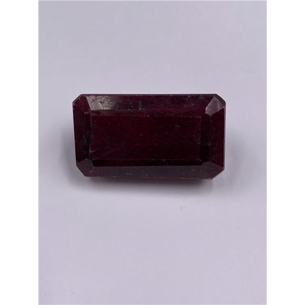 ROUGH MINERAL POLISHED QUALITY RUBY 387.10CT - 77.42G, 46 X 36 X 24MM, MADAGASCAR