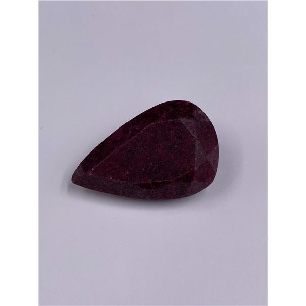 ROUGH MINERAL POLISHED QUALITY RUBY 213.10CT - 42.62G, 50 X 33 X 18MM, MADAGASCAR