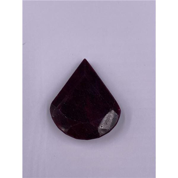 ROUGH MINERAL POLISHED QUALITY RUBY 130.45CT - 26.09G, 40 X 33 X 11MM, MADAGASCAR