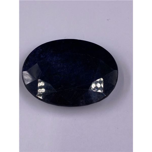 ROUGH MINERAL POLISHED QUALITY SAPPHIRE 126.30CT - 25.26G, 43 X 32 X 12MM, MADAGASCAR