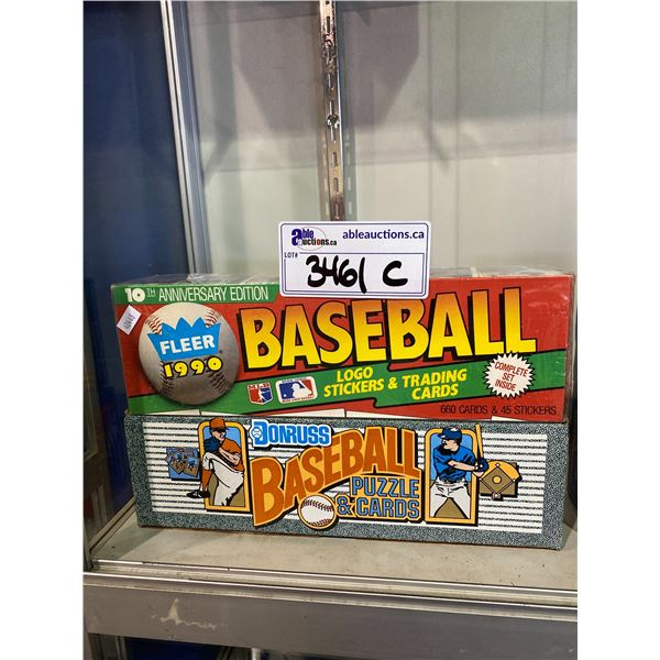 2 BOXES OF BASEBALL CARDS (1 NEWLY SEALED) FLEER & DONRUSS