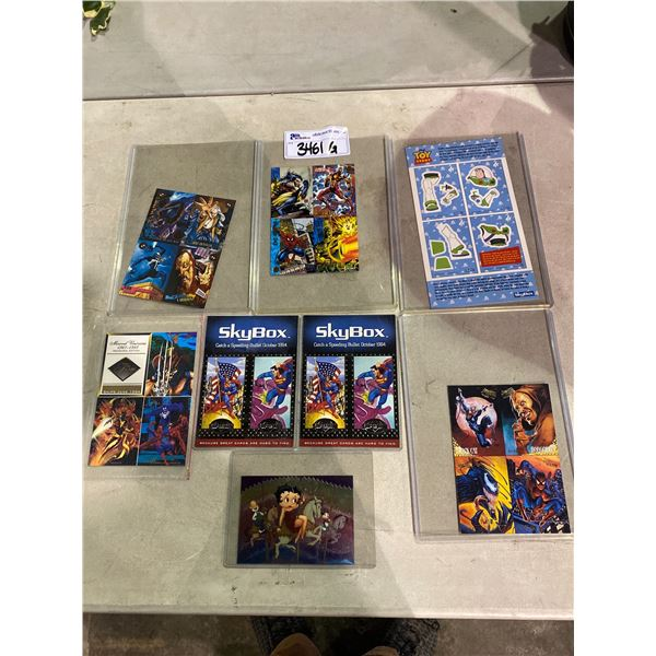 ASSORTED TRADING CARDS (SPIDERMAN, BETTY BOOP, SUPERMAN, & MORE)