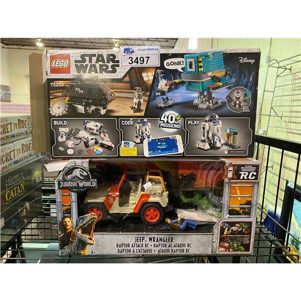 LEGO STAR WARS & JURASSIC WORLD JEEP WRANGLER