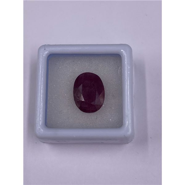 NATURAL FABULOUS RUBY 8.05CT, 13.05 X 9.92 X 6.46MM, PIGEON BLOOD RED COLOUR, OVAL CUT, CLARITY I,