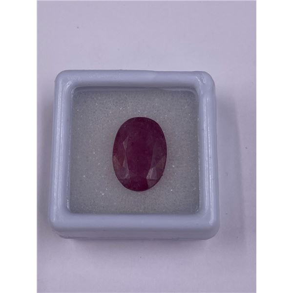 NATURAL SUPERB RUBY 6.85CT, 13.90 X 9.77 X 4.46MM, PURPLISH RED COLOUR, OVAL CUT, CLARITY SI1,