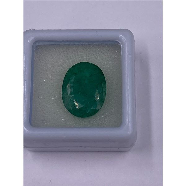 NATURAL FABULOUS EMERALD 8.90CT, 14.93 X 11.52 X 7.04MM, EMERALD GREEN COLOUR, OVAL CUT, CLARITY