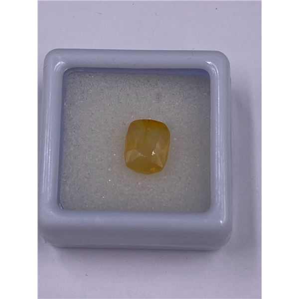 YELLOW SAPPHIRE 3.45CT, 8.82 X 6.95 X 4.97MM, EMERALD CUT, VS CLARITY, MADAGASCAR, UNHEATED AND