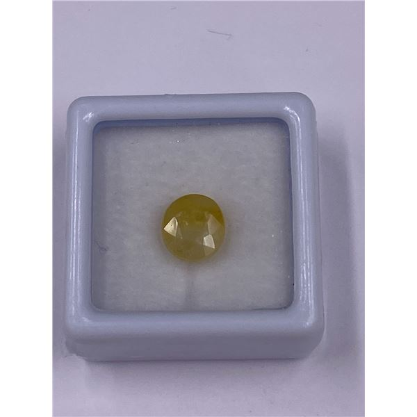 YELLOW SAPPHIRE 3.10CT, 8.14 X 7.46 X 4.79MM, OVAL SHAPE, CLARITY VS, MADAGASCAR, UNHEATED AND