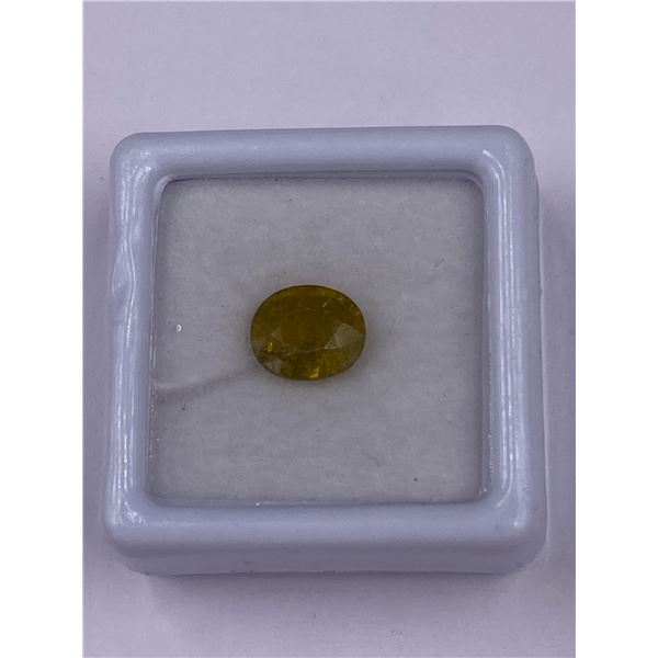 YELLOWISH GREEN SAPPHIRE 2.25CT, 7.93 X 6.89 X 4.48MM, OVAL SHAPE, CLARITY VS, MADAGASCAR, UNHEATED