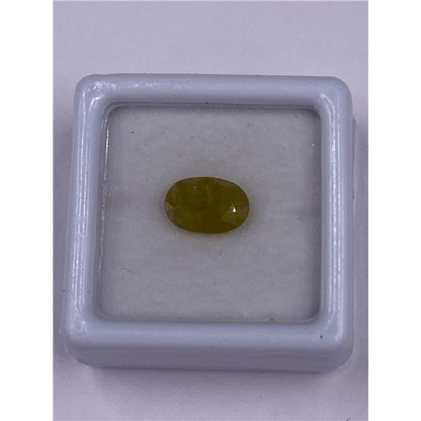 YELLOWISH GREEN SAPPHIRE 2.10CT, 8.96 X 6.13 X 3.85MM, OVAL SHAPE, CLARITY VS, MADAGASCAR, UNHEATED