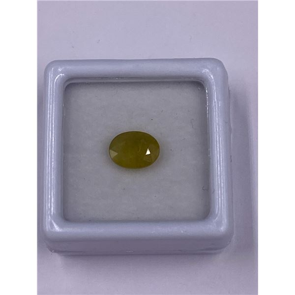 YELLOWISH GREEN SAPPHIRE 2.00CT, 8.04 X 6.31 X 4.10MM, OVAL SHAPE, CLARITY VS, MADAGASCAR, UNHEATED