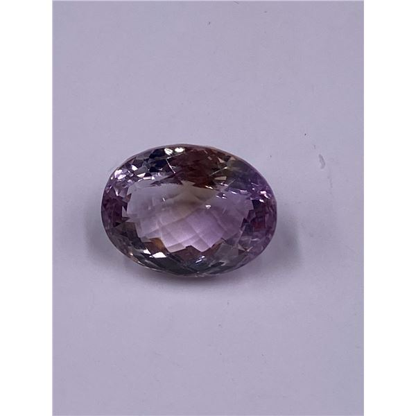 BIG PINK AMETHYST 22.40CT, 19.12 X 15.06 X 12.78MM, OVAL CUT, IF-LOUPE CLEAN CLARITY, BRAZIL