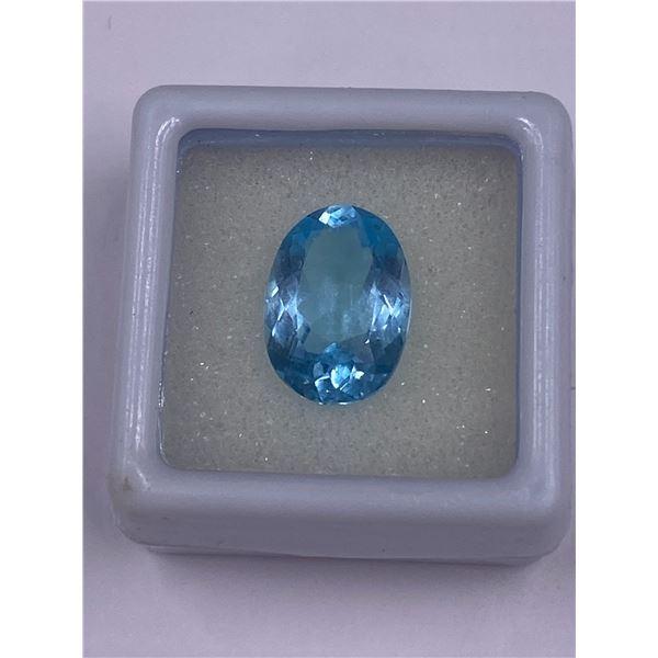 SWISS BLUE TOPAZ 6.22CT, 13.9 X 10.00 X 5.90MM, OVAL CUT, CLARITY VVS, BRAZIL