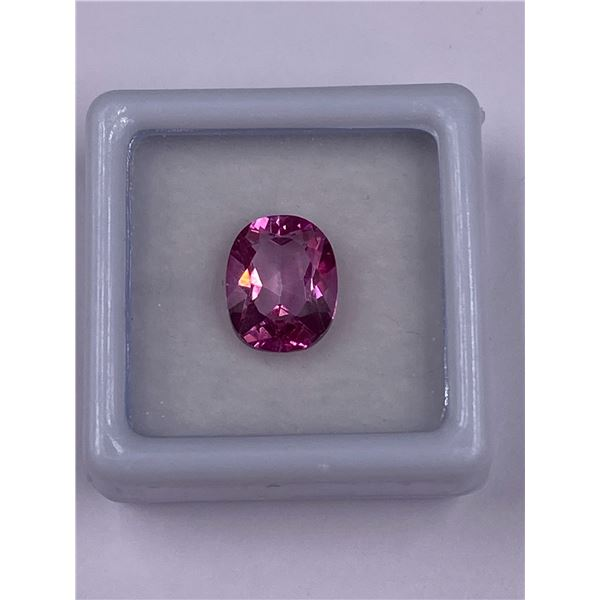 PINK TOPAZ 3.94CT 10.5 X 8.5 X 5.5MM, OVAL CUT, CLARITY IF-LOUPE CLEAN, BRAZIL, CVD