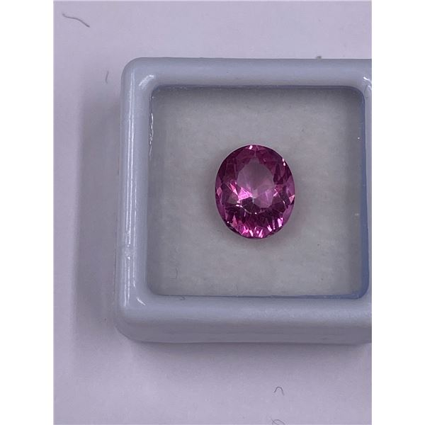 PINK TOPAZ 3.94CT, 10.5 X 8.8 X 6.0MM, OVAL CUT CLARITY IF-LOUPE CLEAN, BRAZIL, CVD