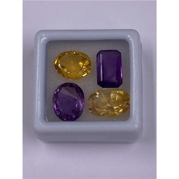 AMETHYST AND GOLDEN CITRINE 14.50CT, 11 X 9 X 5MM, OVAL CUT, CLARITY VVS, BRAZIL, UNTREATED