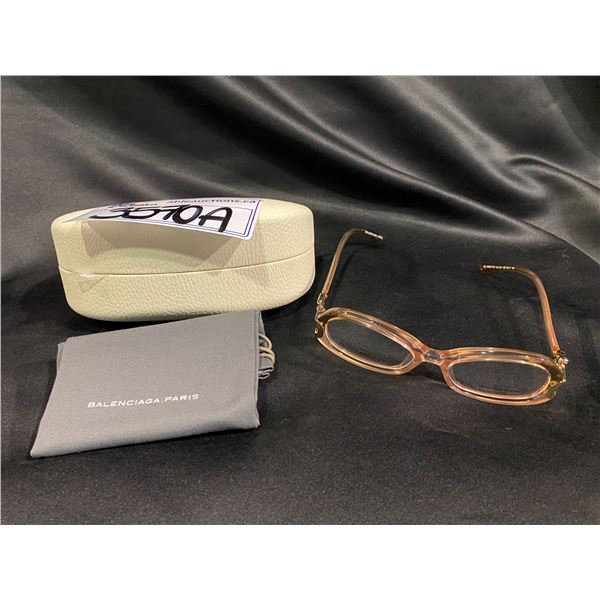 NEW WITH CASE BALENCIAGA PINK FRAME GLASSES