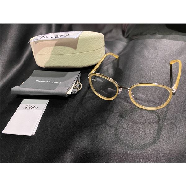 NEW WITH CASE BALENCIAGA BEIGE FRAME GLASSES