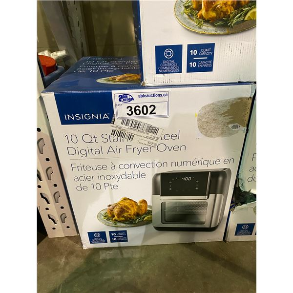 INSIGNIA 10 QT STAINLESS STEEL DIGITAL AIR FRYER OVEN