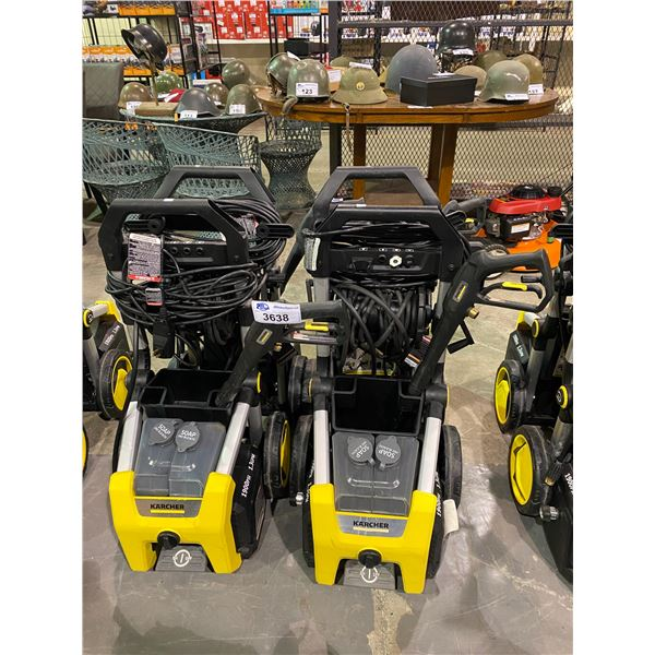 2 KARCHER PRESSURE WASHERS 1900 PSI (MAY NEED REPAIR & OR MISSING PIECES)