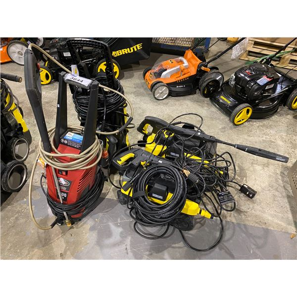 4 ASSORTED PRESSURE WASHERS (MAY NEED REPAIR & OR MISSING PIECES)