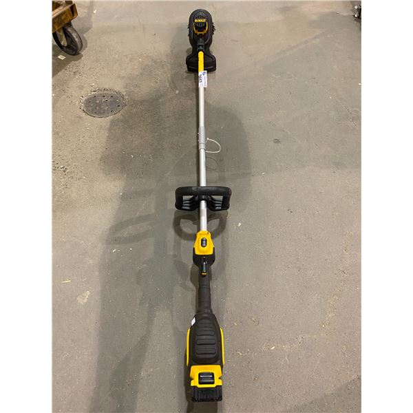 DEWALT CORDLESS STRING TRIMMER DCST920 WITH BATTERY & SCRUB BRUSH, NO CHARGER