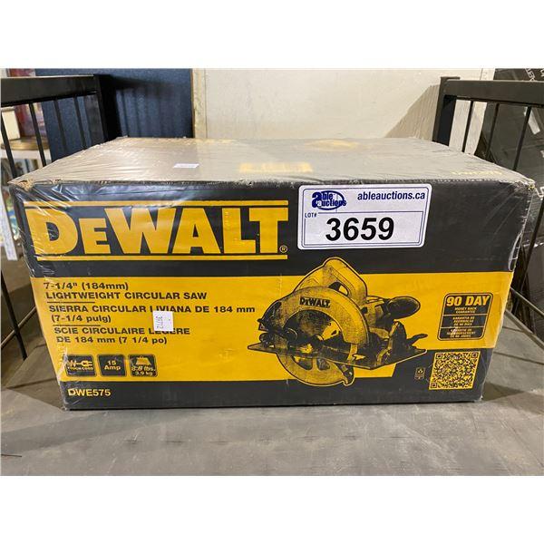"""NEW IN BOX DEWALT LIGHTWEIGHT CIRCULAR SAW 7-1/4"""" (184MM) MODEL DWE575"""
