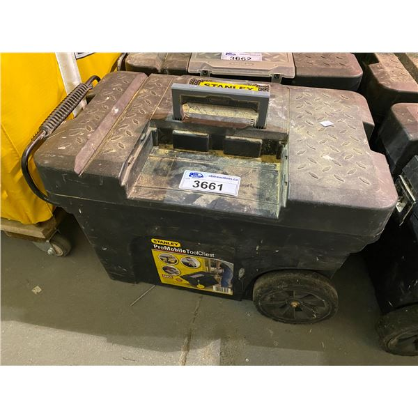 STANLEY ROLLING TOOL CHEST WITH CONTENTS